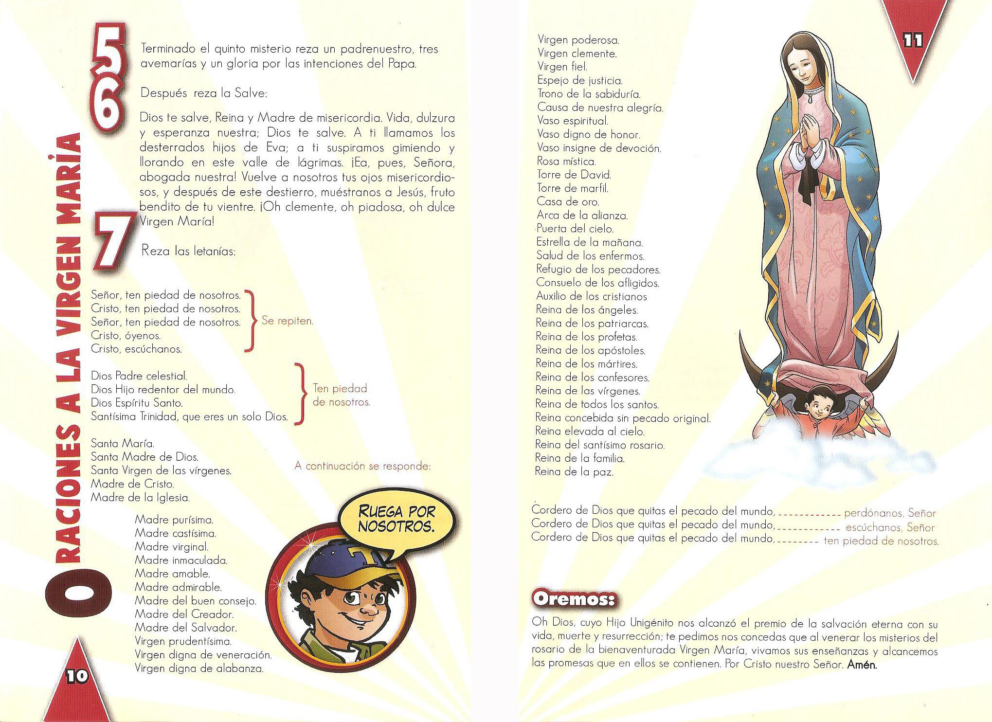 f- Letanías a la Virgen María