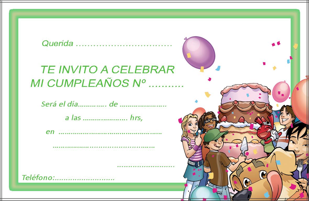 inivtación de cumpleaños 2