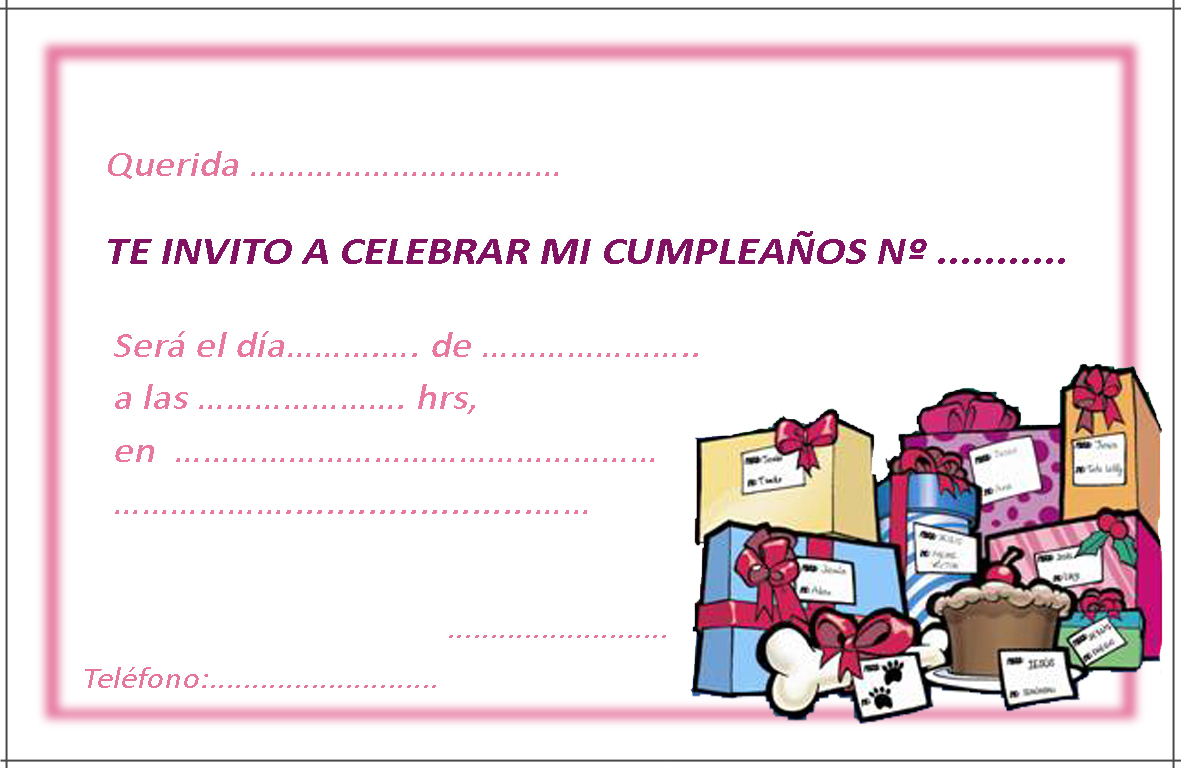 inivtación de cumpleaños 3