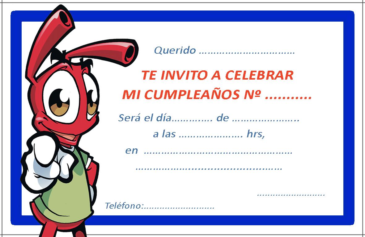 invitacion de cumpleaños 4