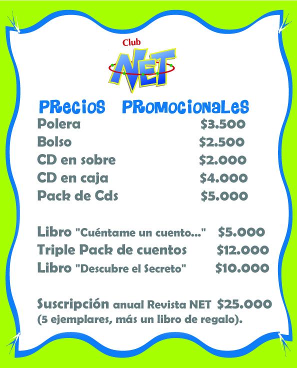 Precios productos NET