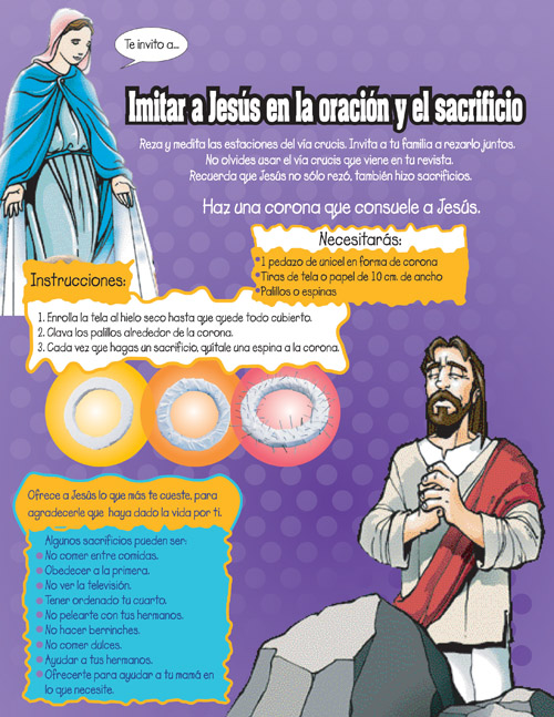 Corona de espinas, imita a Jesus